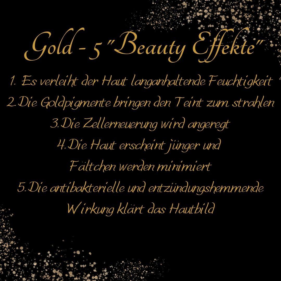 Chi Yang Goldmassage - die fünf Vorteile des Goldes