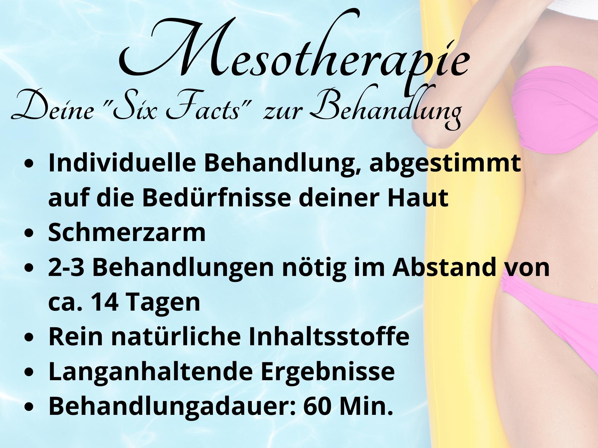 """Mesotherapie - deine """"Six Fact"""" zur Behandlung"""