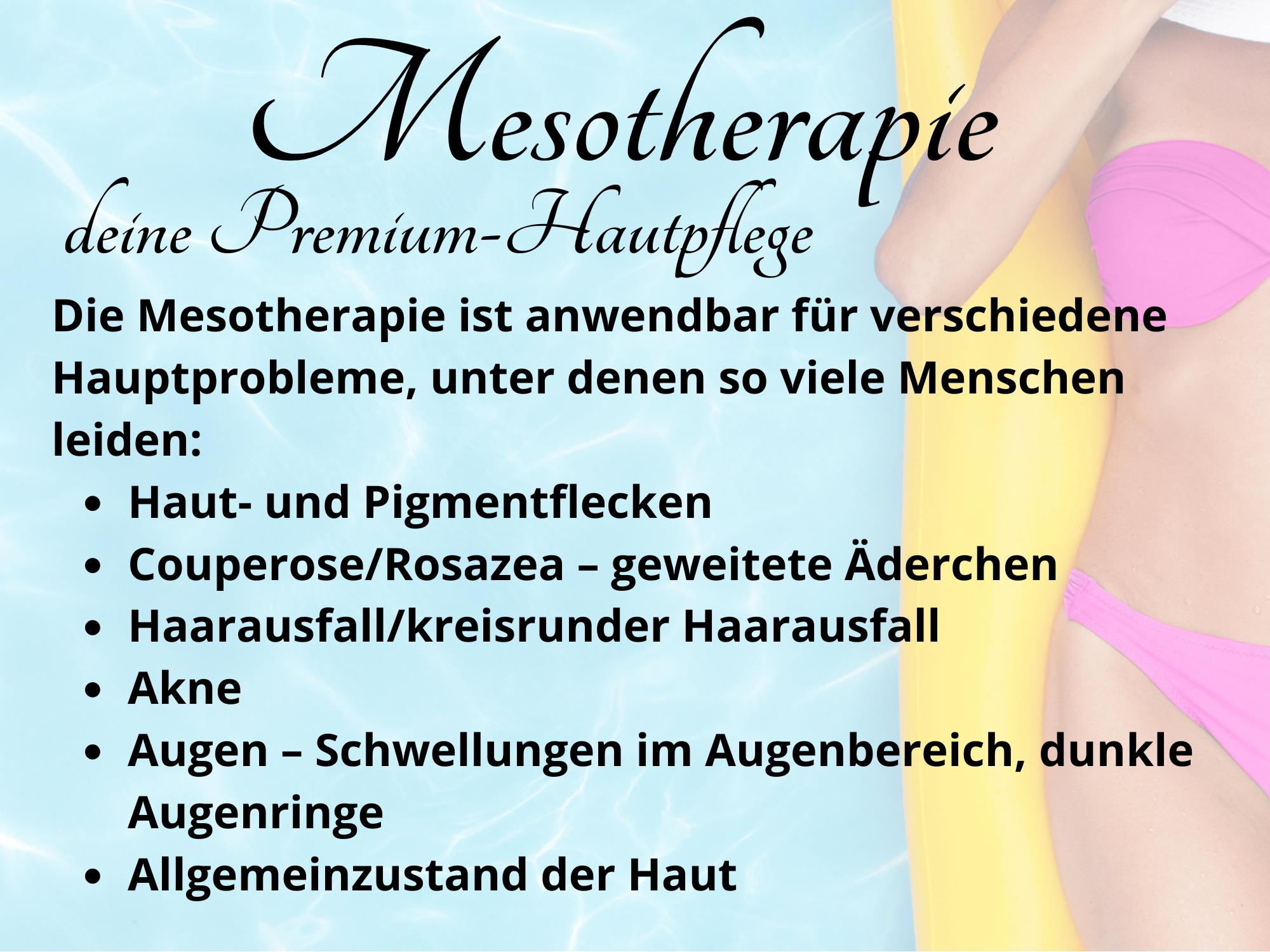 Mesotherapie - deine Premium-Hautpflege