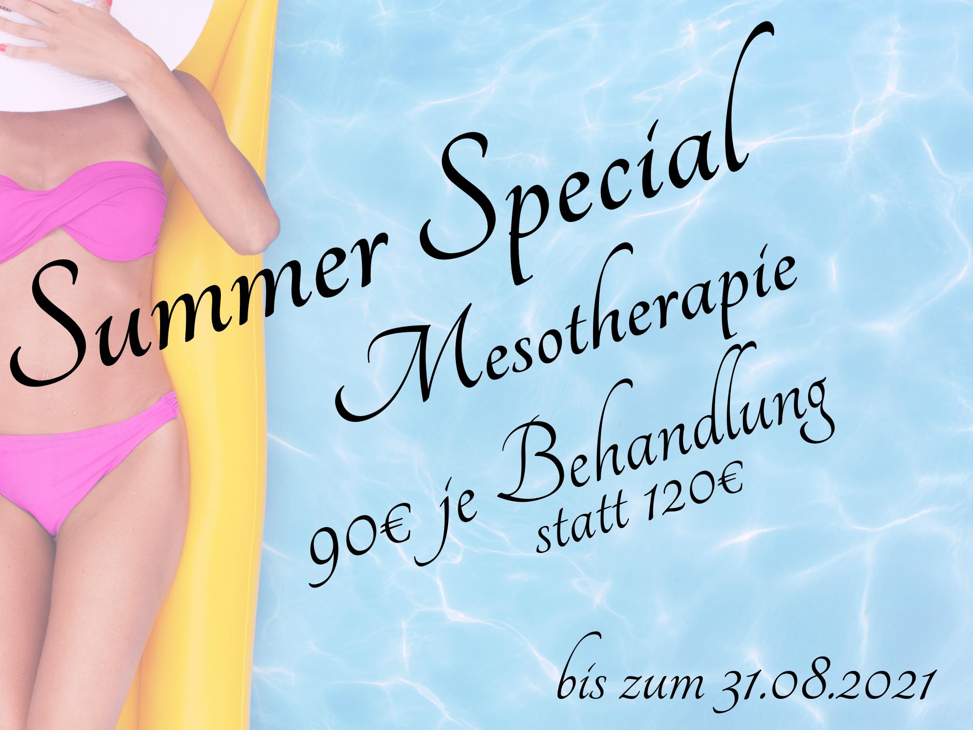 """Mesotherapie - unser """"Summer Special"""""""