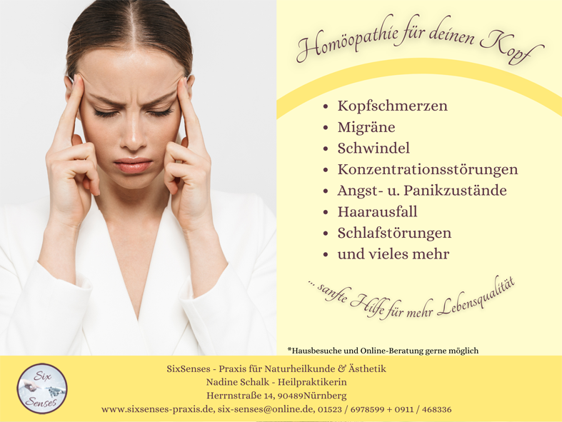 Homöopathie für Deinen Kopf - Kopfschmerzen ade für mehr Lebensqualität