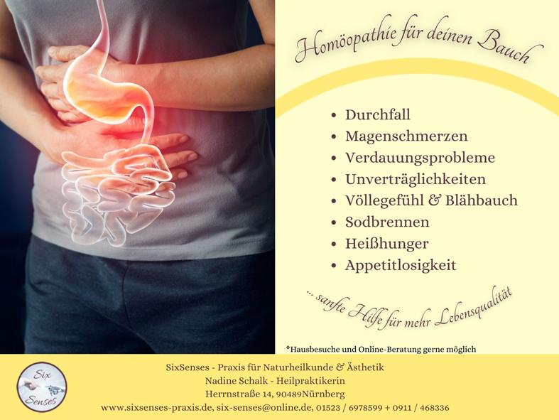Homöopathie für Deinen Bauch - Homöopathie kann helfen bei verschiedenen Magen-/Darmbeschwerden